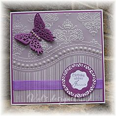 all occasions embossing folder cards Birthday Wishes, Birthday Cards, Gilding Wax, Embossed Cards, Embossing Folder, Homemade Cards, Cardmaking, Birthdays, Projects To Try