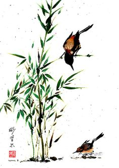 """""""Mothers Perspective"""" Spontaneous (Xie Yi) style Chinese brush painting on rice paper by bgsearle."""
