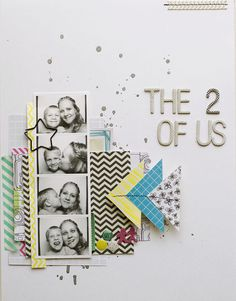 The 2 of us by AllisonWaken at Studio Calico Love Scrapbook, Project Life Scrapbook, Scrapbook Page Layouts, Scrapbook Cards, Scrapbooking Ideas, Multi Photo, Studio Calico, Grafik Design, Layout Inspiration