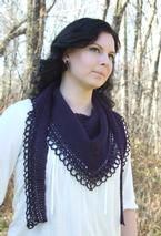 Raven's Song- Tunisian Crochet Shawl Pattern
