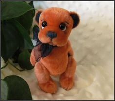 **Beth Franco Bears** Cody is 5 1/4 inches standing.