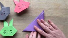 A bit of fun for Easter - do you love bunnies? Here is a great little video showing you easy it is to fold paper bunnies. The kids will love them. These bunnies are super cute and will stand up too!