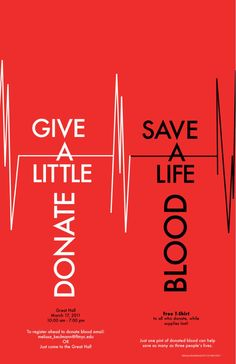 Poster for Blood drive at FIT