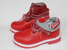 flod down red timberland boots