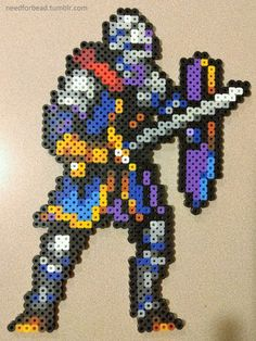 Dark Souls: Oscar  Dark Souls is owned by FromSoftware Inc.  Buy the games here.  More perler bead designs here.  Sprite design based on from Cyangmous GBA SOULS SQUAD.  Follow him for more pixel art on DeviantArt or Twitter!