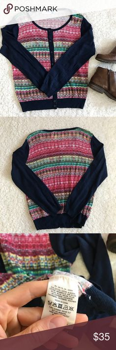 Sparrow Anthropologie multi color Cardigan Sweater Excellent Condition. Size large. Shoulder to Hem: 24 inches. Underarm to underarm: 19 inches. Sleeve length: 24 inches. Anthropologie Sweaters Cardigans
