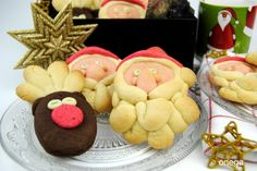 Santa Claus and reindeers cookies. Recipe.