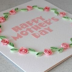 Quilled Mother's day card, paper quilling