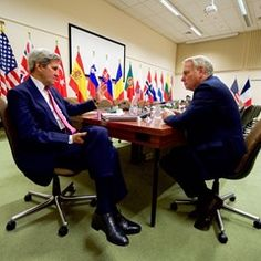 US Secretary of State John Kerry meets with French Foreign Minister Jean-Marc Ayrault