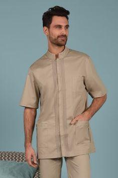 African Shirts, Fashion Couple, Pajama Shirt, Pli, Citizen, Shirt Style, Gentleman, Taupe, Men Casual