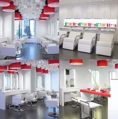 Hair salon interior www.keyconceptdesign.com