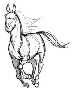 como hacer un caballo corriendo