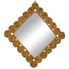 espejo de esparto diseño de esparto