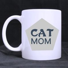 Birthday Or Office Presents Gifts For Cat Lovers Humorous Sayings?Cat Mom Tea Or Coffee Ceramic White Mug * Don't get left behind, see this great cat product : Cat mug Cat Lover Gifts, Cat Gifts, Cat Lovers, Humorous Sayings, Funny Quotes, Office Presents, Cat Mug, Present Gift, Image Cat