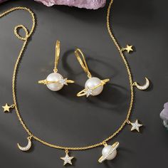 It's written in the stars that you'll shine in celestial jewelry 💫🌙 Item #: 925939, 926285