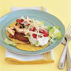 Tex-Mex Chicken Recipes | Chicken Tostadas | MyRecipes.com