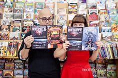 Comic book engagement session by photographer Heather Kincaid #engagement #photography #wedding