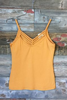 Sun Kissed Tank Top: Goldenrod