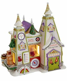 Department 56 North Pole Village - Real Artificial Tree Factory Collectible Figurine - Retired 2013
