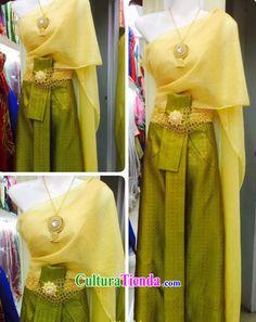 Top nacional tradicional tailandés tailandés tradicional de vestir prendas de vestir trajes vestidos vestido vestido de novia juego completo para las mujeres niñas niños jóvenes adultos