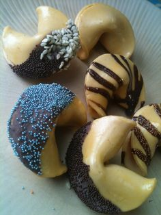 Gourmet Fortune Cookie Magnets 6 piece set Handmade by Bananamoo, $19.99