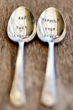Vintage Silver Wedding Spoons