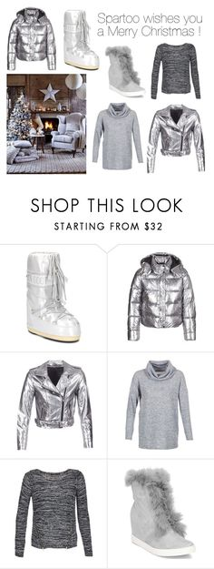 """""""Spartoo wishes you a Merry Christmas !"""" by spartoouk ❤ liked on Polyvore featuring Moon Boot and ONLY"""