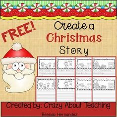 There are a total of 9 pages: 4 pages with sentence starters, 4 pages without sentence starters, and 1 blank page for additional writing. 1st Grade Writing, Kindergarten Writing, Kids Writing, Writing Activities, Literacy, Craft Activities For Toddlers, Christmas Activities, Winter Activities, Christmas Writing