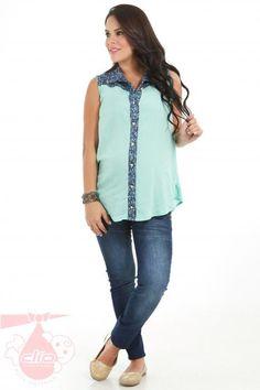 f6394cba2  Moda en  ropa  materna. Prendas para la  gestación con las tendencias de  la temporada.
