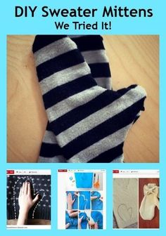 So adorable! And easy to make! Cute & Cozy Mittens You Can Make From a Sweater (VIDEO) http://thestir.cafemom.com/beauty_style/168360/cute_cozy_mittens_you_can?utm_medium=sm&utm_source=pinterest&utm_content=thestirs