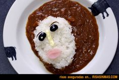 """""""Fresco Jesus Curry"""" is a Delicious Restoration of the Traditional Japanese Curry Recipe. Fresco Jesus has never looked so tasty! Bento Recipes, Curry Recipes, Cute Food, Good Food, Japanese Curry, Curry Rice, Curry Dishes, Tiny Food, I Want To Eat"""