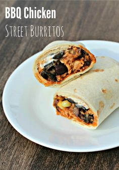 30 minute dinner idea: BBQ Chicken Street Burritos with Organic Corn and Black beans