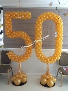 """50"" #happybirthday #50th #balloons #numbers #partyballoons #canberra #act #BalloonBrilliance"