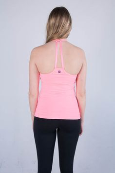 Zobha's Lorena Solid Tank in Pink #activewear #tank #pink #fashion