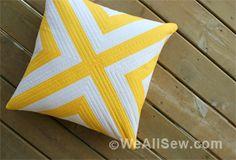 Geometric Pillow Pattern.  Free Download from WeAllSew « http://weallsew.com