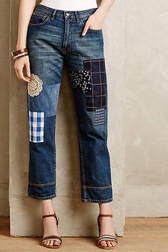 Erika Cavallini Patchwork Jeans
