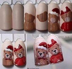 nail designs 2019 french tip nail designs for short nails kiss nail stickers nail art stickers at home essie nail stickers nail designs for fall nail designs for short nails 2019 kiss nail stickers self adhesive nail stickers best nail polish strips 2019 Nail Art Noel, Xmas Nail Art, Christmas Nail Art Designs, Xmas Nails, Winter Nail Art, Holiday Nails, Winter Nails, Christmas Nails, Diy Nails