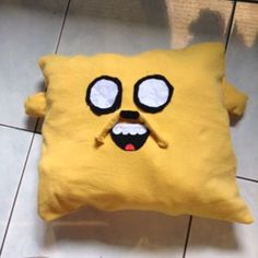 Jake The Dog pillow - Follow @Guidecentral for more #DIY and #crafts