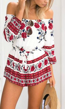 CHI CHI OFF THE SHOULDER PLAYSUIT – Just Love!