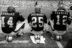 Marv Hubbard, Fred Biletnikoff, and Ken Stabler, Oakland Raiders