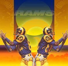 Vintage LA Rams Damac poster art