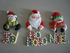 But picture this: Santa Mickey in the center, Goofy in the penguin's garb to the left, and a disgruntled Donald Duck on the right with a carrot in his mouth. Polymer Clay Christmas, Christmas Ornament Crafts, Clay Ornaments, Noel Christmas, Christmas Items, Holiday Crafts, Xmas, Fimo Polymer Clay, Polymer Clay Figures