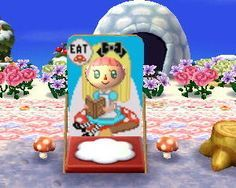 Alice in Wonderland Face Board ACNL Animal Crossing New Leaf Qr Code
