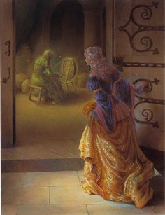 Kinuko Y. Craft, The Witch at the Spinning Wheel