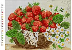 Kitchen Basket of Apples Beading Kit hand embroidery