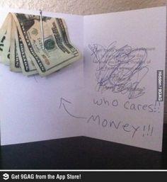 Grappig als je geld kado wilt geven.