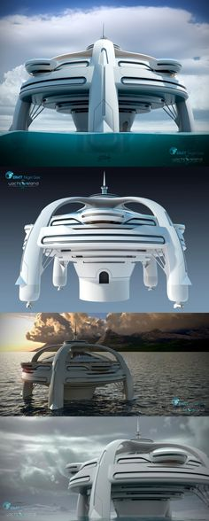 Project Utopia Luxury Island Yacht by Yacht Island Design