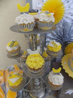 Project Nursery - Gray and Yellow Cupcakes