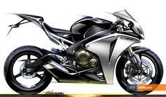 58 Ideas For Motorcycle Sketch Honda Futuristic Motorcycle, Motorcycle Art, Motorbike Design, Bicycle Design, Honda Cbr 1000rr, Bike Sketch, Car Design Sketch, New Motorcycles, Bike Style