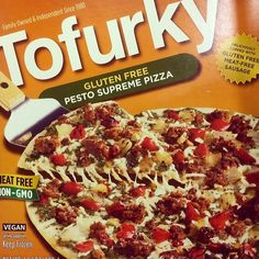 It's day 2 of @expowest, and we're starting things off with @Tofurky's new #glutenfree Pesto Supreme Pizza. Let's just call this breakfast. - @VegNews Magazine- #webstagram